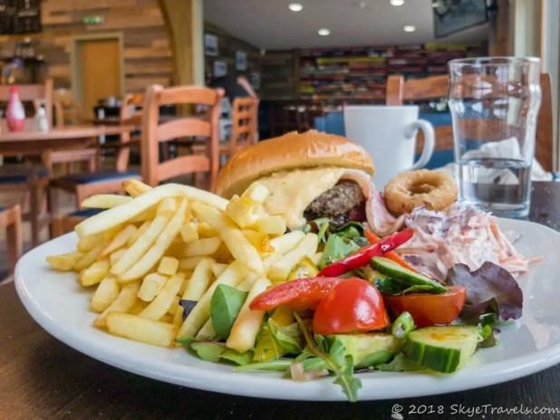 Aonoch Mor Burger at Nevis Range