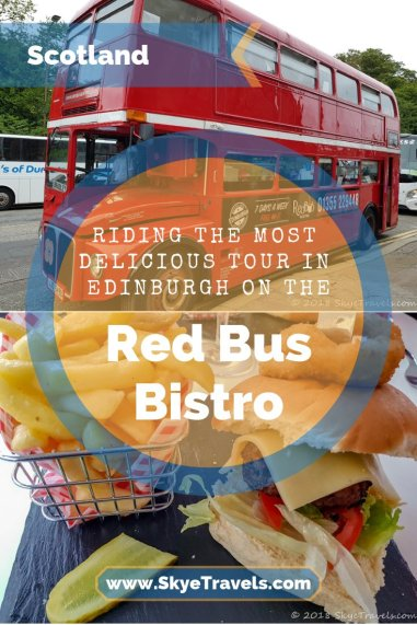 Riding the Most Delicious Tour in Edinburgh on the Red Bus Bistro Pin