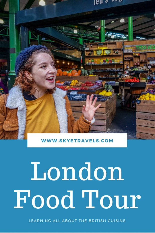 London Food Tour Pin
