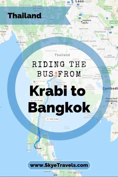Riding the Bus from Krabi to Bangkok Pin