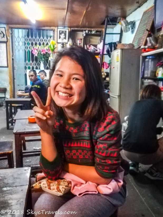 Tour Guide Lan on the Street Food Tour in Hanoi
