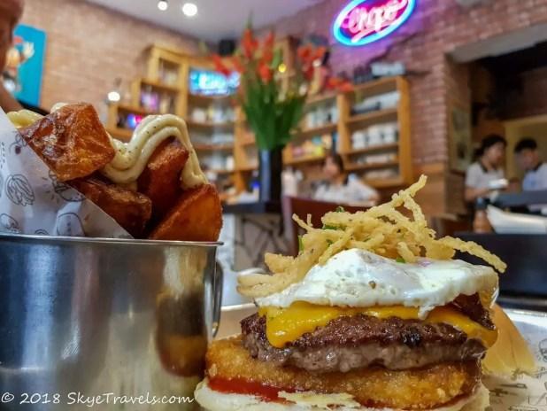 Chops Old Quarter Breakfast Burger