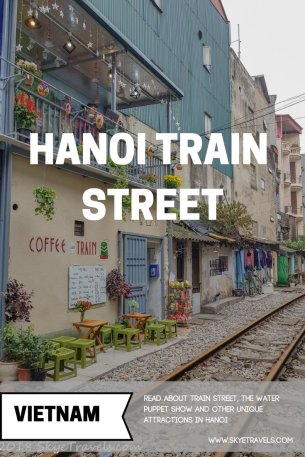 Hanoi Train Street Pin