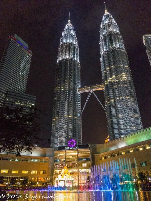 Petronas Towers Water Show
