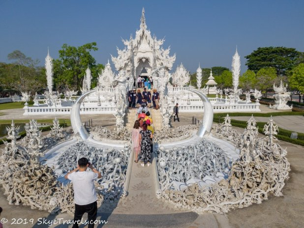 Crowds at the White Temple in Chiang Rai