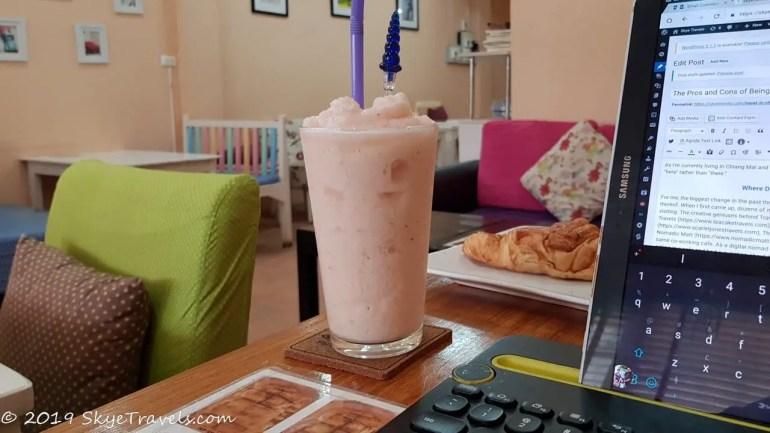 Working in Panyaiyan Cafe