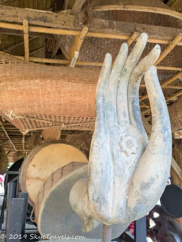 Black House Musuem Palm Sculpture