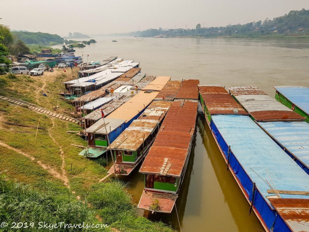 Slow Boats on the Mekong in Huai Xai