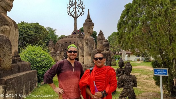 Selfie with Monk at Buddha Park