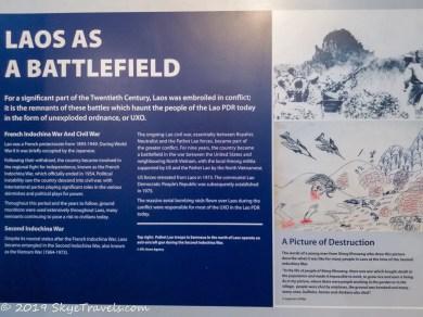 UXO Museum Information Board #4
