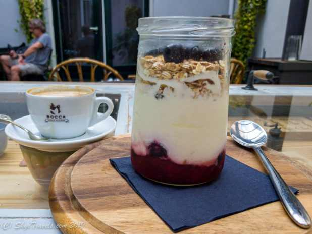 Breakfast Parfait at Hello I'm Local Hostel