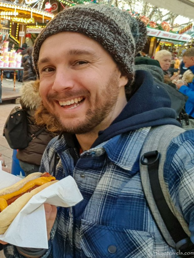 Selfie with Sausage in Luxembourg