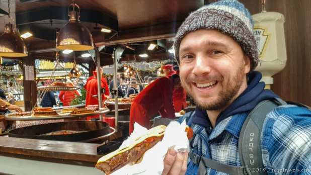 Selfie with Sausage at Chirstmas Market in Cologne