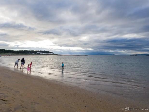 Yellowcraig Beach at High tide