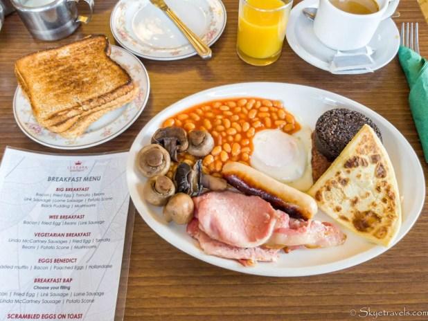 Scottish Breakfast at Leapark Hotel