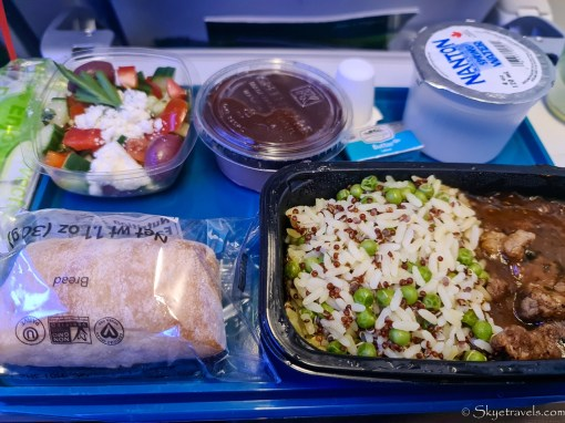 Flight Meal from Chicago to Dublin