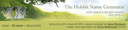 Generatore di nomi Hobbit