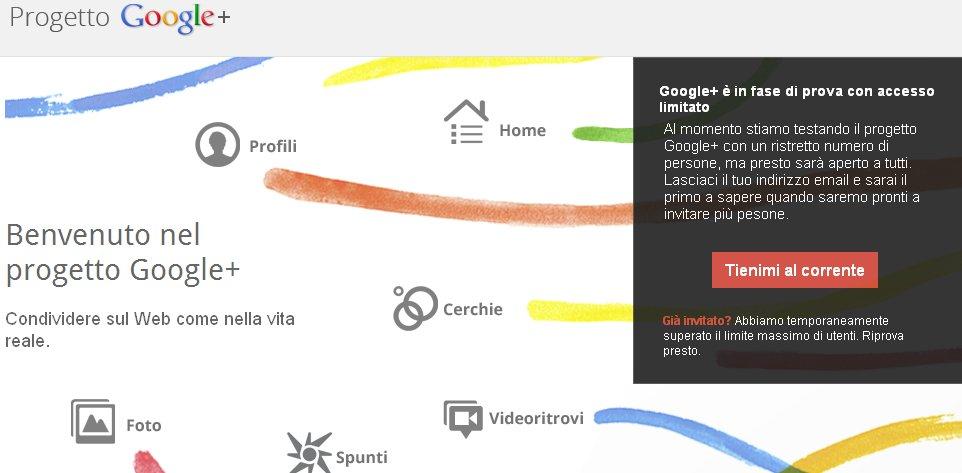 Disponibili 150 inviti per Google Plus