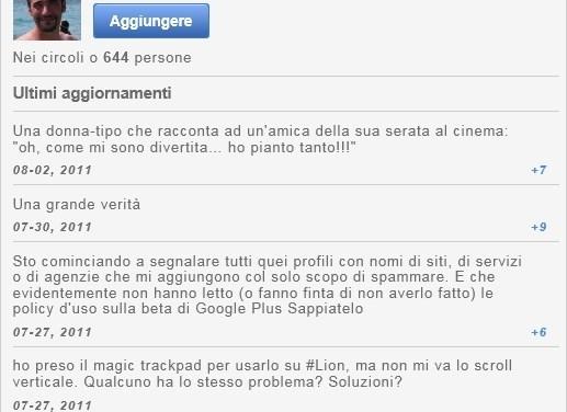 Aggiungi al tuo sito il widget di Google Plus