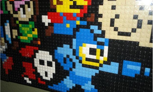Un 'dipinto' a 8-bit fatto tutto di Lego
