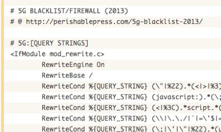 Protezione di un sito web tramite htaccess – 5G Blacklist 2013
