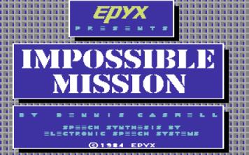 Impossible Mission | Titolo