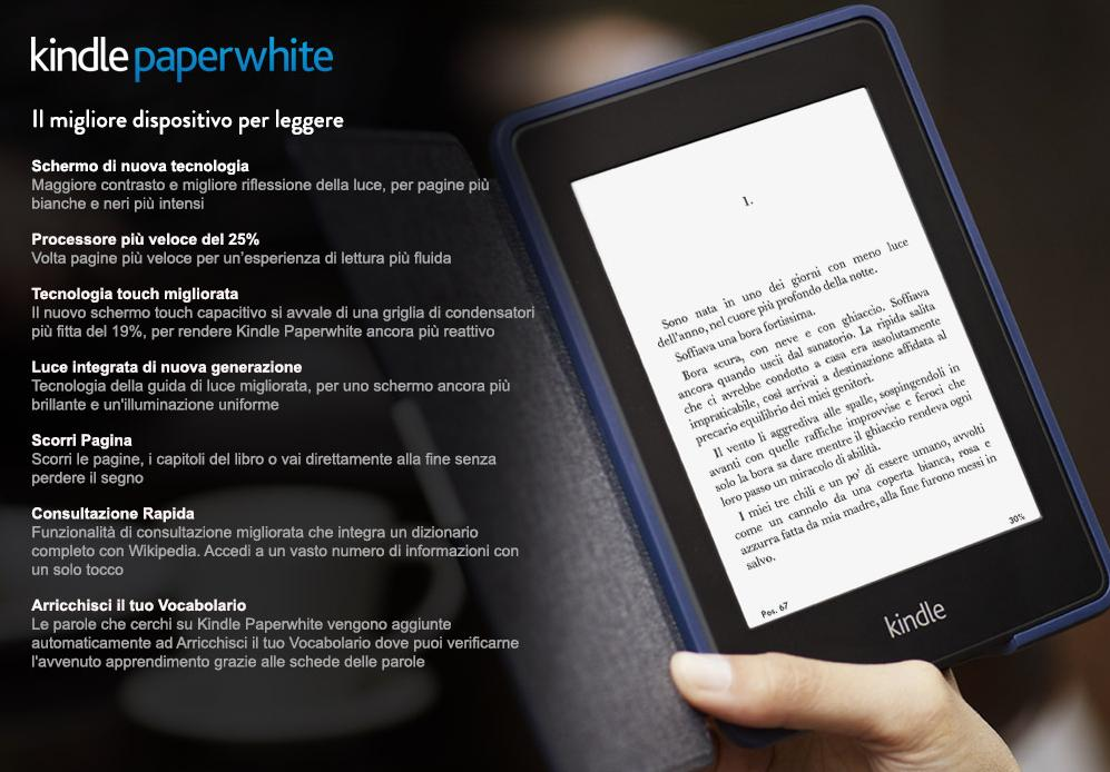 Amazon presenta il nuovo kindle paperwhite lo sky