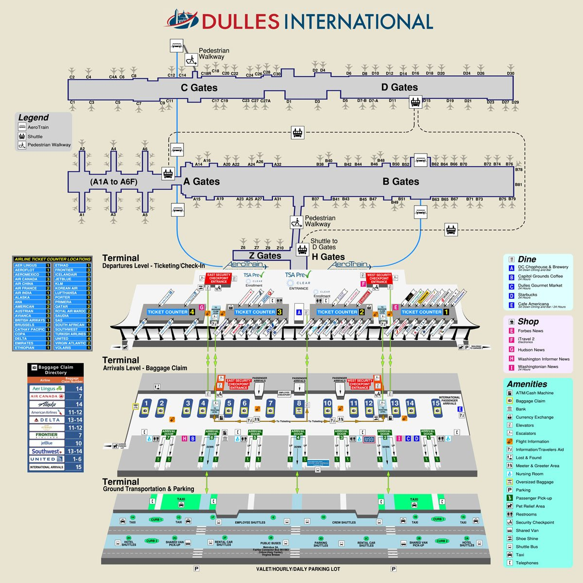 Washington Dulles International Airport Code Map And Information Skygod