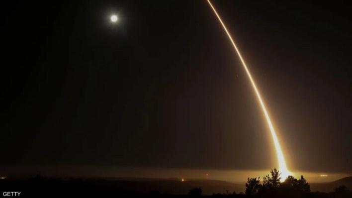 لحظة إطلاق الصاروخ الأميركي في ولاية كاليفورنيا