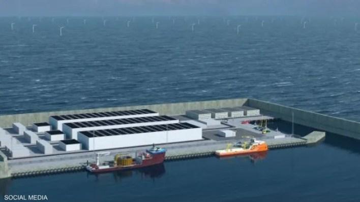 نموذج متصور للجزيرة الاصطناعية في بحر الشمال