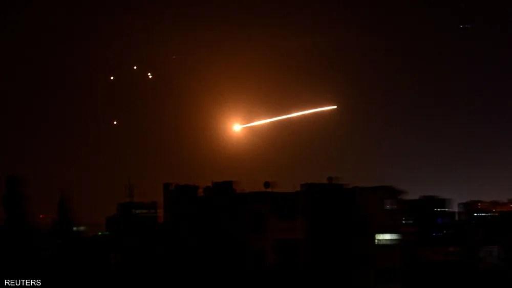 تصدي الدفاعات السورية لطائرات إسرائيلية