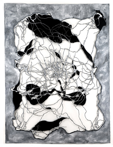Sky Pape Drawing Breath ink on cut paper