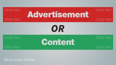 Advertisement or Content
