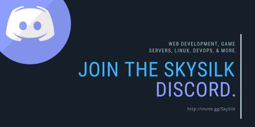 Join the SkySilk developer community discord server