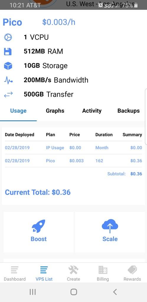 Full VPS mobile overview