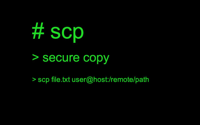 scp - an alternative to FTP