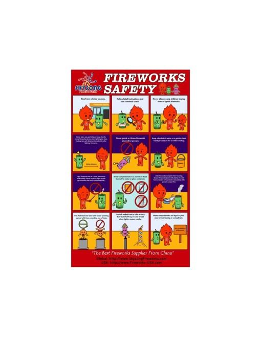A1 Fireworks Safety Poster 20pcs