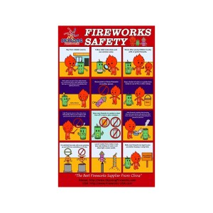 A1 Fireworks Safety Poster 20pcs