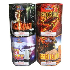 Desert Falcon/Black Dragon/Red Scorpio/Killer Shark 6Shots Assorted
