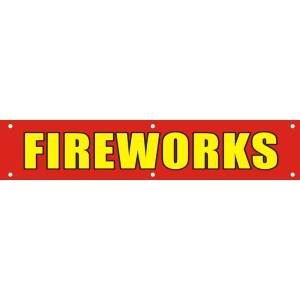 Banner Fireworks 2'x10'