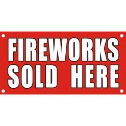 Banner Fireworks 3'x8'