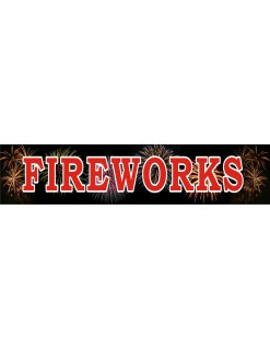 Banner Fireworks 5'x18'