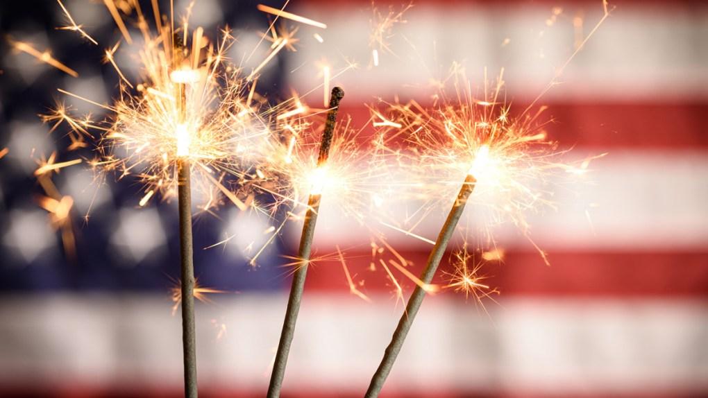 american patriotic fireworks