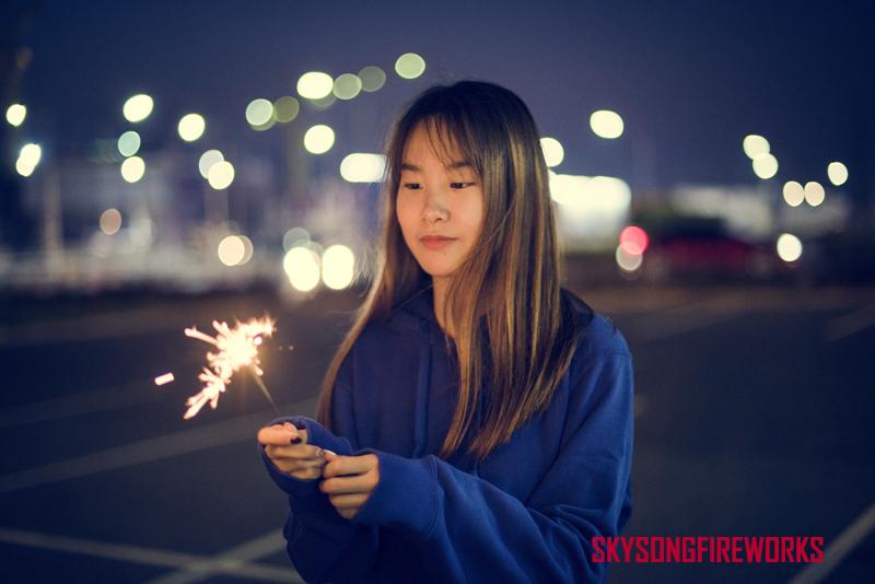 chinese girl sparkler