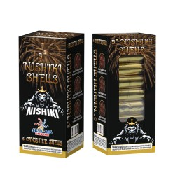 """5"""" 60gram canister shells, huge break with all nishiki willow with multi color effects"""