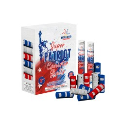 Great super patriot canister shells, 12pcs in a pack, huge break fireworks for american 4th july.
