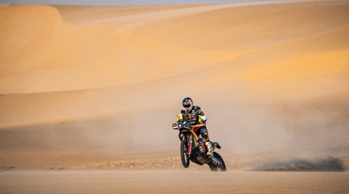 SHUBAYTAH, SAUDI ARABIA, JAN 15, 20 - MOTORSPORTS, RALLY - Dakar Rally 2020, stage 10, Haradh - Shubaytah. Image shows Matthias Walkner (AUT / KTM). Photo: GEPA pictures / Red Bull Content Pool / Marcelo Maragni - ATTENTION - FREE OF CHARGE FOR EDITORIAL USE