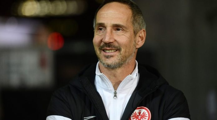 HAMBURG, GERMANY, 30.OCT.19 - SOCCER - DFB Pokal, FC Sankt Pauli vs Eintracht Frankfurt. Image shows head coach Adi Huetter (Frankfurt). Photo: GEPA pictures / Witters / Tay DucLam - DFL regulations prohibit any use of photographs as image sequences and / or quasi-video