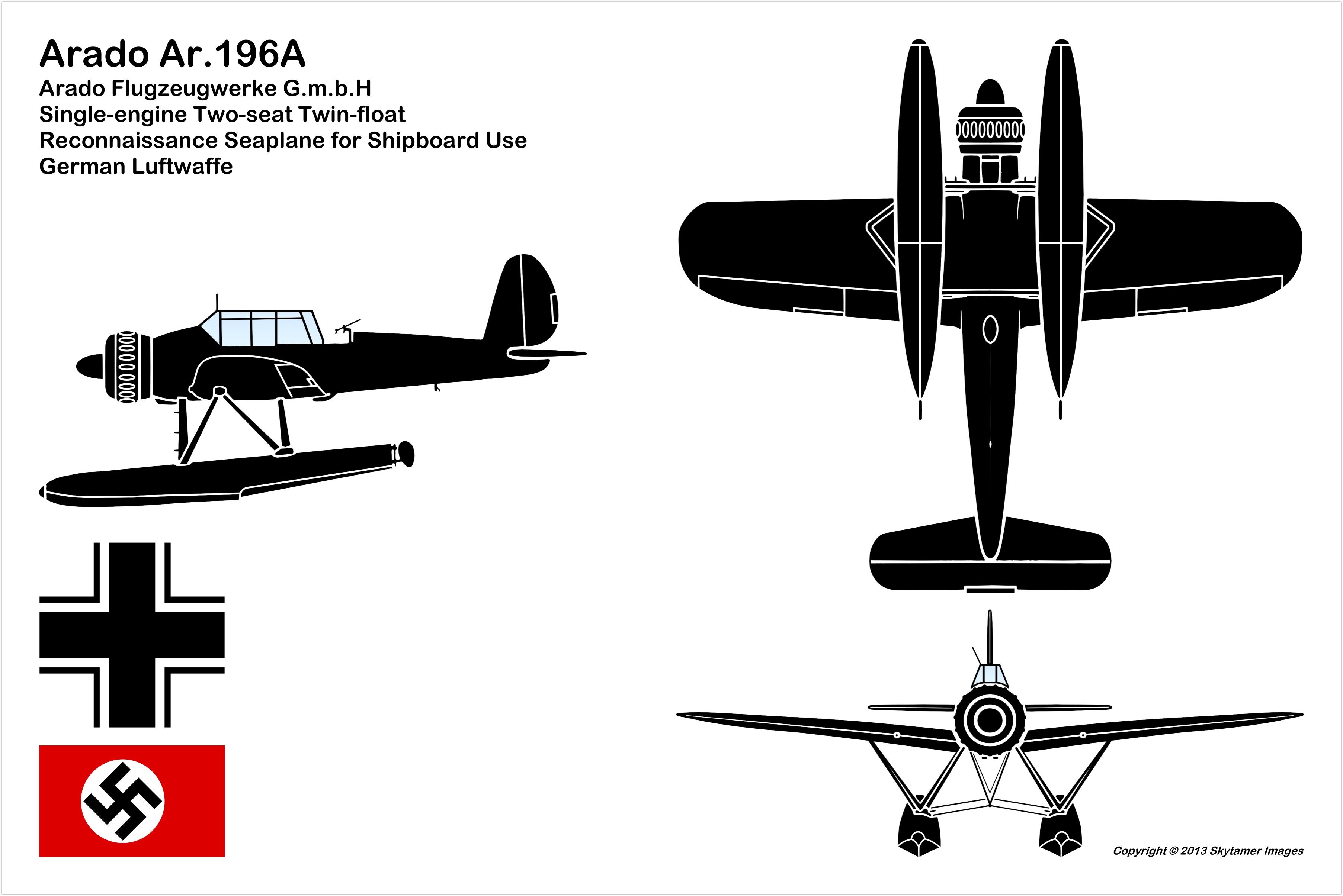 Arado Ar 196a Wwii German Reconnaissance Aircraft
