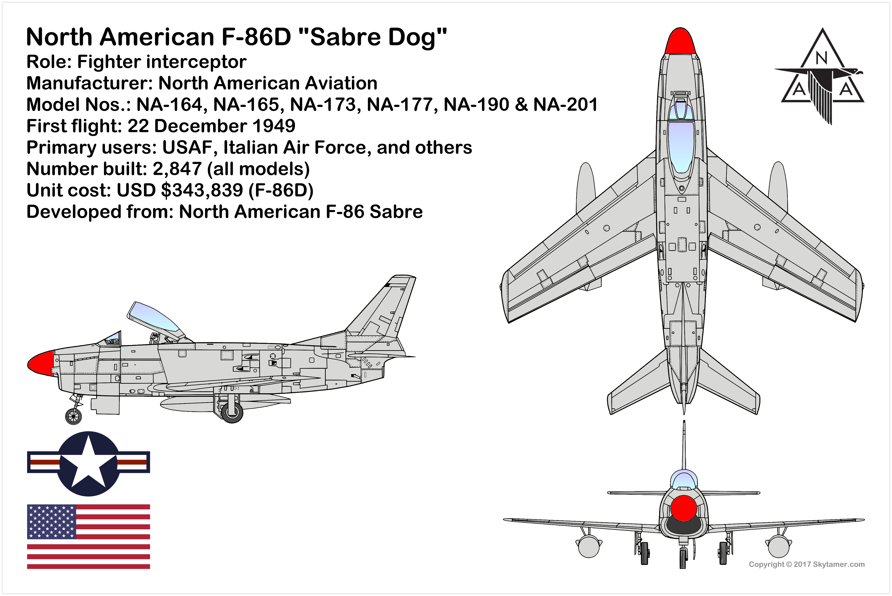 North American F 86d Sabre Dog Single Engine Single Seat